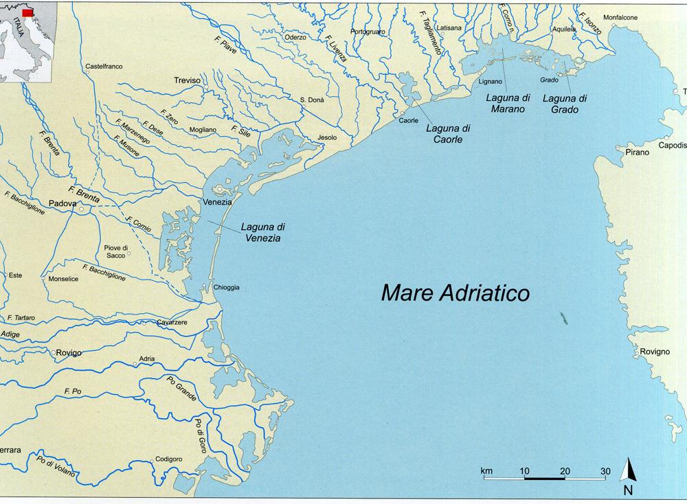Cartina Italia Idrografica.L Idrografia Archeoveneto